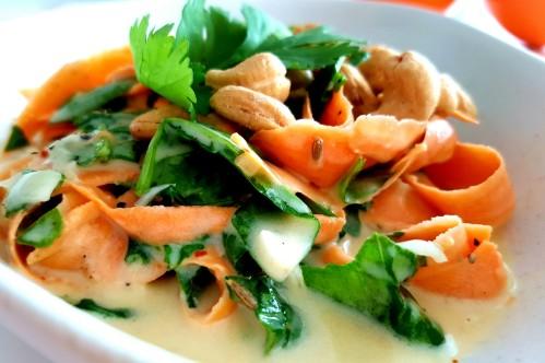Süßkartoffel Spinat Salat 500x332
